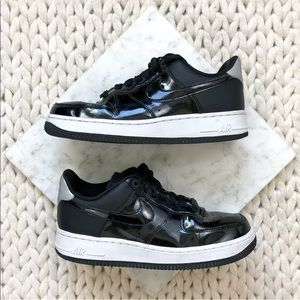 Nike Black Patent Air Force Ones